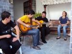 Fazendo barulho com os músicos da EC-16